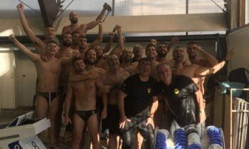 Άρης πόλο: Την Κυριακή (18/7) η ομάδα του Μανώλη Γούναρη επέστρεψε στην Α1 κατηγορία της υδατοσφαίρισης Ανδρών.