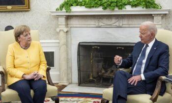 Μπάιντεν: Με πολύ θερμά λόγια είχε υποδεχθεί ο Αμερικανός πρόεδρος, μέσω του λογαριασμού στο Twitter, την Άνγκελα Μέρκελ.