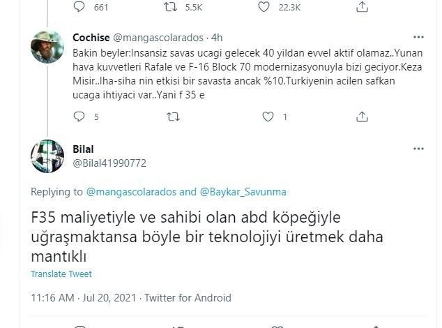 Τούρκοι: Θέλουμε βίντεο με τουρκικό F-16 να καταδιώκει Rafale στο Αιγαιό αναφέρουν Τούρκοι χρήστες του διαδικτύου, τονίζοντας πως αυτό θα είναι η μεγαλύτερη απάντηση στην ρητορική της Αθήνας για αλλαγή των ισορροπιών.
