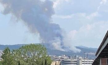 Θεσσαλονίκη: Φωτιά στο Σέιχ Σου!