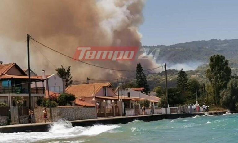 Αχαΐα: Μεγάλη φωτιά, εκκενώνονται τρεις οικισμοί