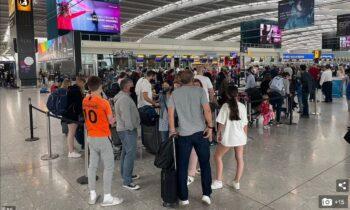 Μια απίστευτη, πρωτοφανή ταλαιπωρία βίωσαν το Σάββατο (24/7) χιλιάδες ταξιδιώτες κατά την παραμονή τους στο αεροδρόμιο Χίθροου του Λονδίνου.