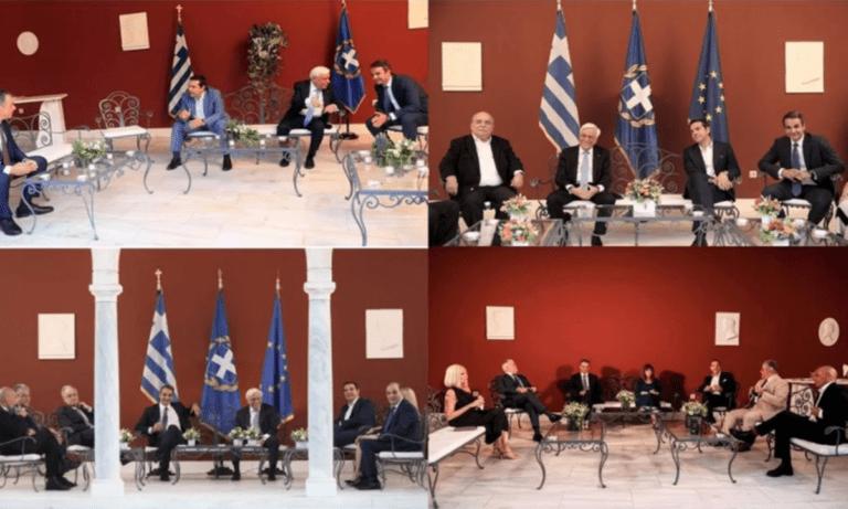 Γιορτή Δημοκρατίας: Συνάντηση αρχηγών χωρίς σημαία και θυρεό – Η Ελληνική σημαία ήταν ο μόνος ανεπιθύμητος προσκεκλημένος…