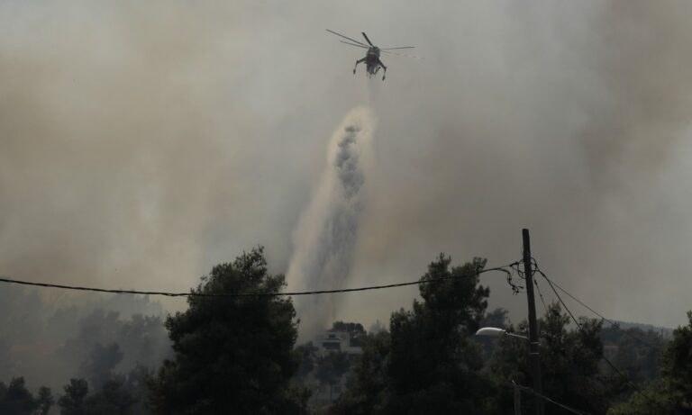 Φωτιά τώρα στη Σταμάτα Αττικής: Εκτός ελέγχου η κατάσταση (φωτογραφίες)