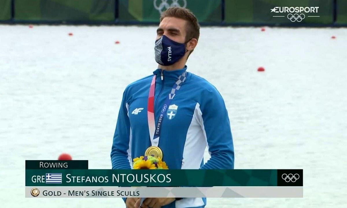 Ολυμπιακοί Αγώνες 2020 – Ντούσκος: Η απονομή του χρυσού μεταλλίου και ο Εθνικός Ύμνος (vid)