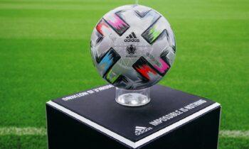 H UEFA, σε συνεργασία με την adidas, παρουσίασε την μπάλα με την οποία θα αγωνιστούν οι ομάδες στα ημιτελικά και τον μεγάλο τελικό του EURO 2020 στο «Γουέμπλεϊ».