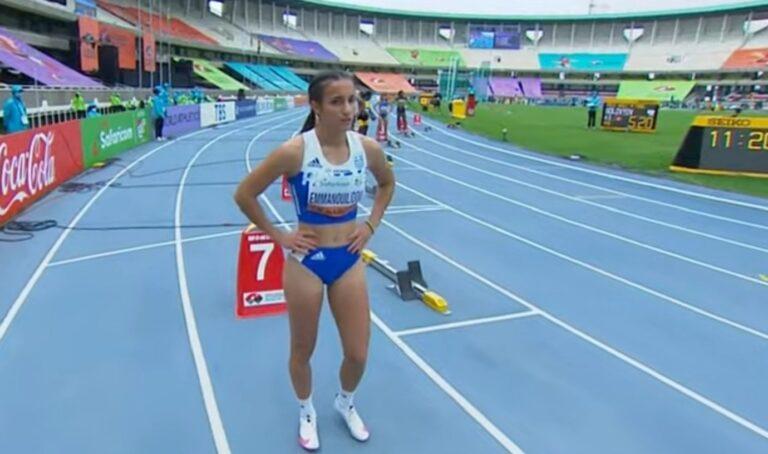 Η Πολυνίκη Εμμανουηλίδου σημείωσε πανελλήνιο ρεκόρ Κ20 στα 200μ. με 23.77, αλλά δεν έφθασε για να της δώσει την πρόκριση στον τελικό.