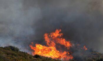Φωτιά Ηλεία: Πυρκαγιά στην περιοχή Κορυφή - Μήνυμα από το 112