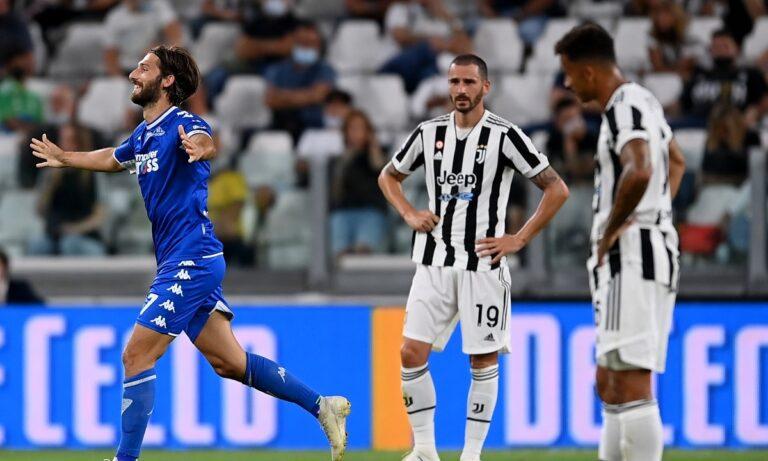 Έπειτα από την ισοπαλία της πρεμιέρας, η Γιουβέντους γνώρισε εντός έδρας ήττα από την Έμπολι για την 2η αγωνιστική.
