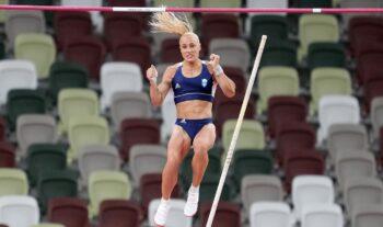 Η Νικόλ Κυριακοπούλου με άλμα στα 4,50μ. κατέλαβε την 8η θέση, την καλύτερη που έχει πάρει στις τέσσερις παρουσίες της σε Ολυμπιακούς Αγώνες.