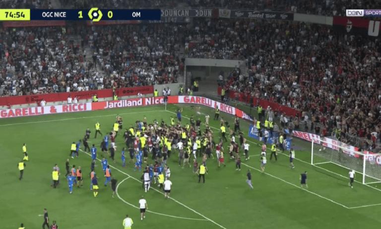 Γαλλία – Απίστευτες εικόνες: Οπαδοί της Νις έκαναν «ντου» και η ομάδα τους πήρε το ματς! (vid)
