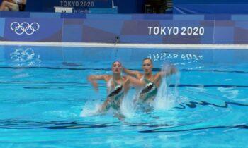 Στην 10η θέση του προκριματικού του ελεύθερου προγράμματος ντουέτου καλλιτεχνικής κολύμβησης βρίσκονται οι Ευαγγελία Πλατανιώτη και Εβελίνα Παπάζογλου.