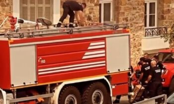 Σέρβοι Πυροσβέστες Φωτιές Εύβοια