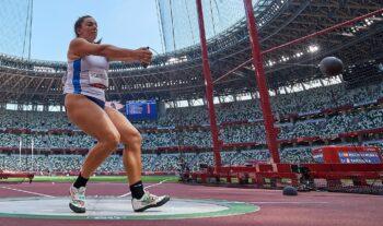 Η Σταματία Σκαρβέλη ολοκλήρωσε τον αγώνα της στον προκριματικό της σφυροβολίας στους Ολυμπιακούς Αγώνες με καλύτερη βολή στα 69,01μ.
