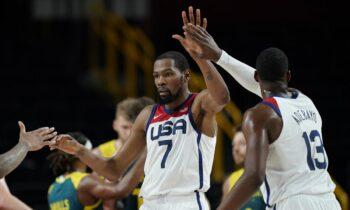 Στον πρώτο ημιτελικό του μπάσκετ στους Ολυμπιακούς αγώνες του Τόκιο η Team USA κέρδισε την Αυστραλία και πέρασε στον τελικό της διοργάνωσης