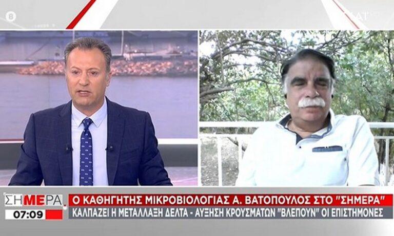 Βατόπουλος: Πότε θα τελειώσουμε με τον κορονοϊό