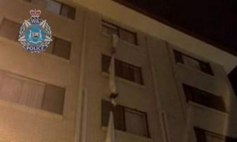 Viral: «Απέδρασε» με σεντόνια από ξενοδοχείο καραντίνας!