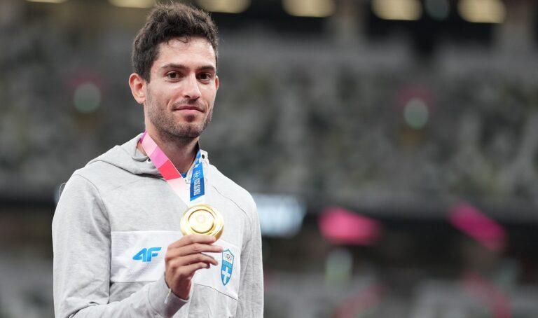 Ολυμπιακοί Αγώνες 2020- Στίβος: Η απονομή του χρυσού στον Μίλτο Τεντόγλου