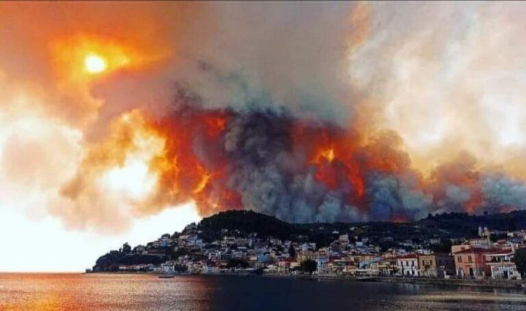 Φωτιά στην Εύβοια: Νέο πύρινο μέτωπο στη Δάφνη!