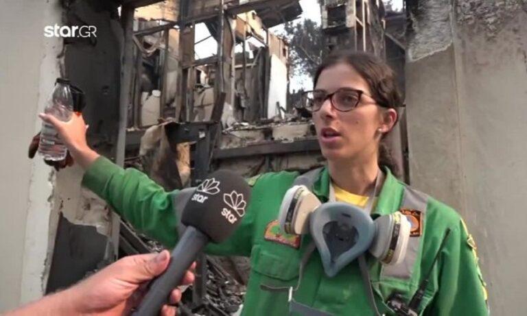 Εθελόντρια έσβηνε φωτιά στο σπίτι γειτόνων της την ώρα που καιγόταν το σπίτι της