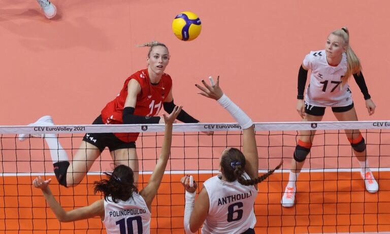 Η Εθνική γυναικών βόλεϊ ηττήθηκε με 3-0 από τη Γερμανία στο «αντίο» της στο Ευρωπαϊκό πρωτάθλημα 2021.