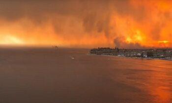 Φωτιά στην Εύβοια: Εκκενώθηκαν χωριά - Στη μάχη με τις φλόγες 95 πυροσβέστες