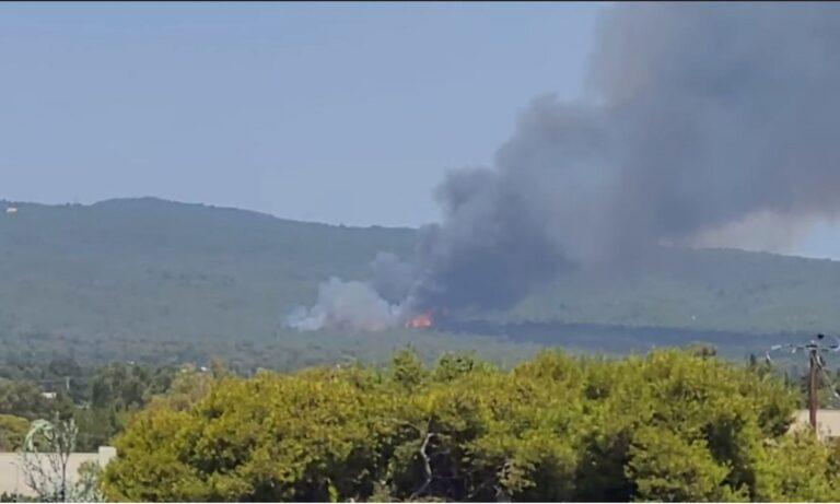 Μεγάλη φωτιά ΤΩΡΑ στην Βαρυμπόμπη