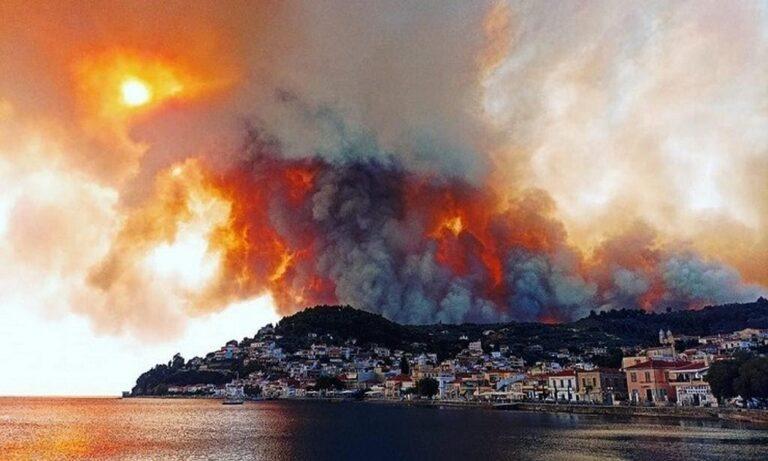 Φωτιά στην Εύβοια: Εκκενώθηκε το Μοναστήρι του Όσιου Δαυίδ – Τρεις μοναχοί δεν εγκαταλείπουν τη Μονή (pic)