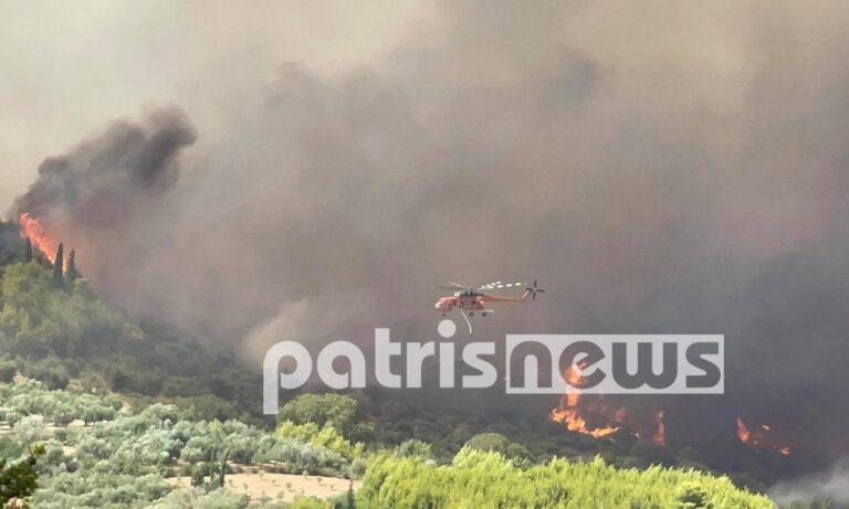 Φωτιά – Αρχαία Ολυμπία: Εκκενώνεται η περιοχή, η πυρκαγιά κατακαίει τα πάντα