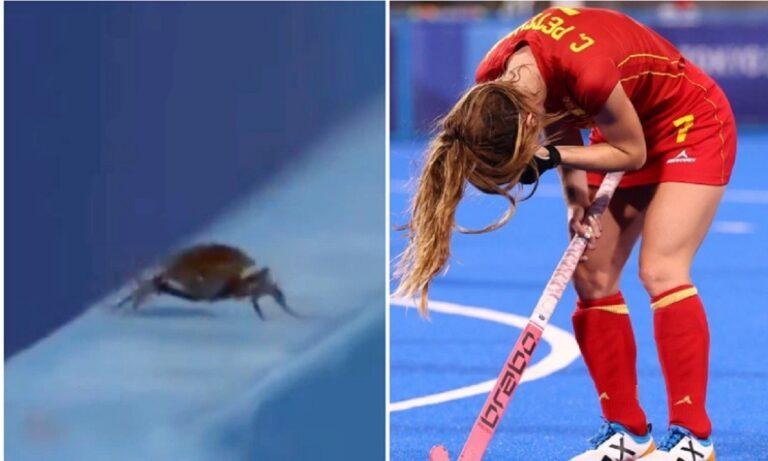 Ολυμπιακοί Αγώνες 2020: Κάμεραμαν άφησε το παιχνίδι χόκεϊ για μία κατσαρίδα