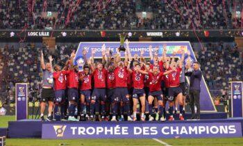 Λιλ - Παρί 1-0: Της έχεις πάρει τον «αέρα»! Μετά το πρωτάθλημα Γαλλίας, η Λιλ κατέκτησε και το γαλλικό Σούπερ Καπ, σε παιχνίδι που έγινε στο Τελ Αβίβ.