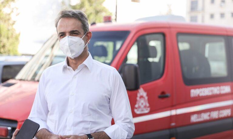 Ο Κυριάκος Μητσοτάκης ανακοίνωσε ότι όλες οι καμένες εκτάσεις είναι αναδασωτέες στην ενημέρωση που έγινε για τις πυρκαγιές στην Αττική και τα πύρινα μέτωπα στην υπόλοιπη Ελλάδα.
