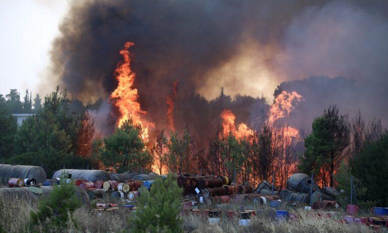 Φωτιά τώρα: Μεγάλη αναζωπύρωση λαμβάνει χώρα στη Βαρυμπόμπη δίπλα στην περιοχή του Τατοΐου όπως μετέδωσε η ΕΡΤ!