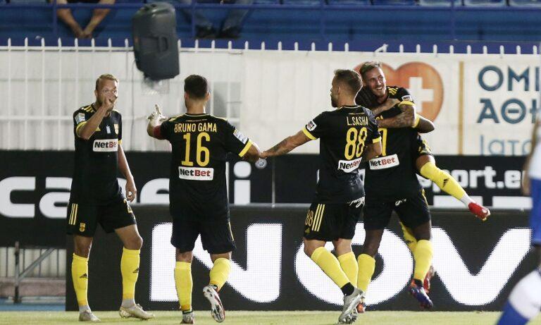 Ατρόμητος – Άρης: Ο Μαντσίνι κάνει το 1-0 για τους «κίτρινους» με ωραίο σουτ! (vid)