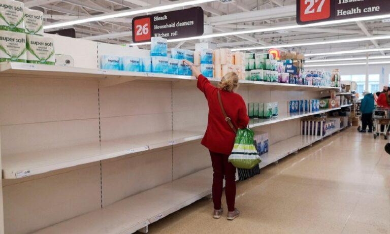 Koρονοϊός: Άδεια τα σούπερ μάρκετ στη Αγγλία – Θα μείνουν καιρό έτσι
