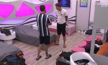Στο Big Brother ο Steve και ο Κωστής μίλησαν και έλυσαν τις διαφορές που είχαν μέσα στο ριάλιτι του ΣΚΑΙ.