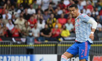 Μόλις δεκατρία λεπτά χρειάστηκε ο Κριστιάνο Ρονάλντο για να σκοράρει στην επιστροφή του στο Champions League ως παίκτης της Μαν. Γιουνάιτεντ