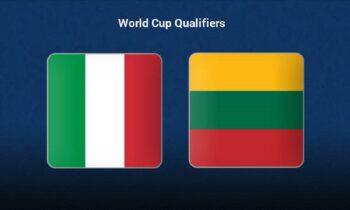 Ιταλία - Λιθουανία LIVE: Παρακολουθήστε την εξέλιξη της αναμέτρησης των προκριματικών του Μουντιάλ από τα online στατιστικά τουSportime.