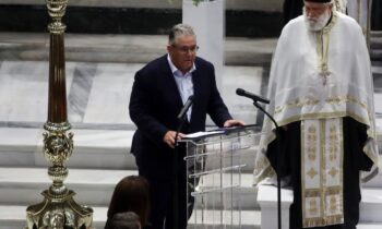 Με έναν επικήδειο από καρδιάς αποχαιρέτησε τον σπουδαίο Μίκη Θεοδωράκη ο Γενικός Γραμματέας της Κεντρικής Επιτροπής του Κομμουνιστικού Κόμματος Ελλάδας, Δημήτρης Κουτσούμπας.