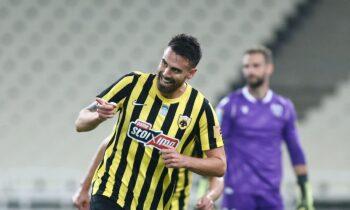 Το πρώτο «ελληνικό» γκολ της σεζόν για την ΑΕΚ πέτυχε ο Νταμιάν Λε Ταλέκ.