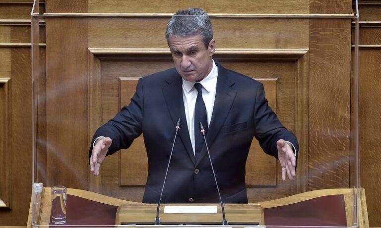 Ο Ανδρέας Λοβέρδος στη Βουλή