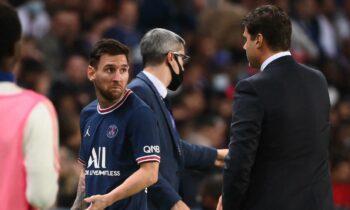 Ο Λιονέλ Μέσι δεν ήταν καθόλου χαρούμενος για την αλλαγή του στο Παρί Σεν Ζερμέν - Λιόν 2-1