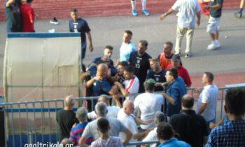 ΑΟ Τρίκαλα - Απόλλων Λάρισας: Επεισόδια στο φιλικό ματς