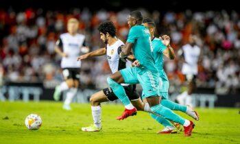 Η Ρεάλ επικράτησ με 2-1στην έδρα της Βαλένθια για την 5η αγωνιστική