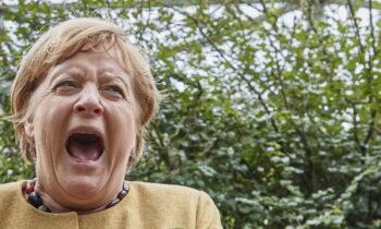 H καγκελάριος Μέρκελ ήταν πρωταγωνίστρια σ' ένα περιστατικό, στο οποίο της... επιτέθηκαν αρκετά παπαγαλάκια με τον αποτέλεσμα να... μαγνητίζει τον κόσμο.