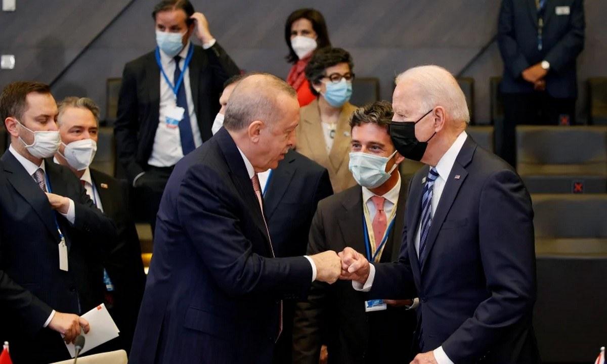 Ο Ρετζέπ Ταγίπ Ερντογάν παραπονέθηκε μπροστά στις τηλεοπτικές κάμερες για τον Τζο Μπάιντεν