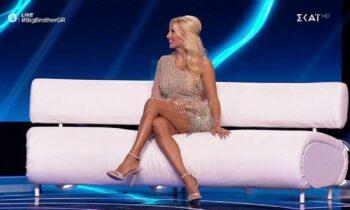 Η Κωνσταντίνα Σπυροπούλου στο πλατό του Big Brother.