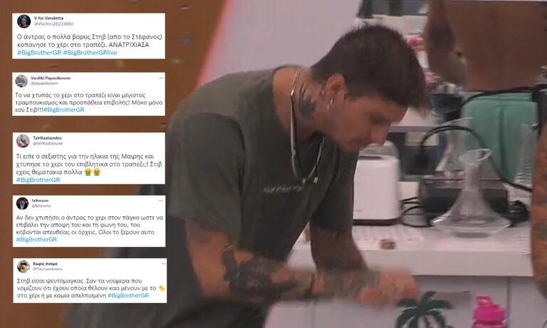 Big Brother : Ο Στηβ χτύπησε το χέρι στο τραπέζι για τη Μαίρη και το Twitter πήρε φωτιά