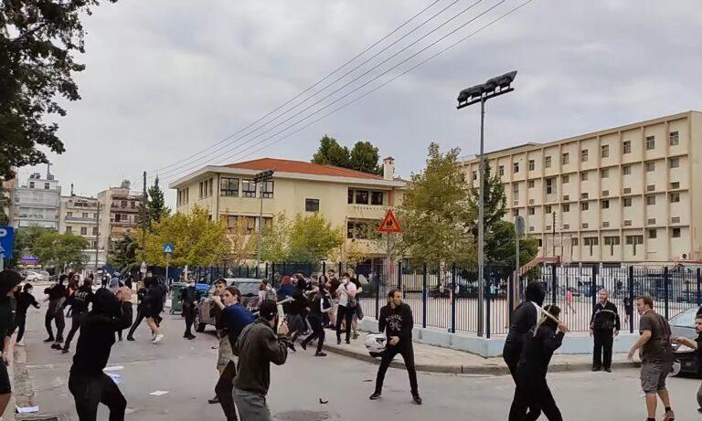 Θεσσαλονίκη: Δολοφονική επίθεση με καδρόνια σε αντιφασιστική πορεία φοιτητών στη Σταυρούπολη!