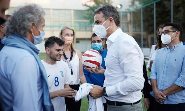 ΔΕΘ 2021 – Κυριακός Μητσοτάκης: Απίστευτη ατάκα στην Εθνική Ομάδα Ποδοσφαίρου Τυφλών